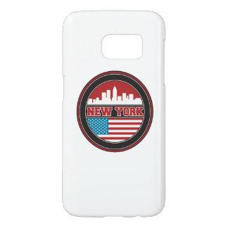 New York Skyline   United States Flag Samsung Galaxy S7 Case