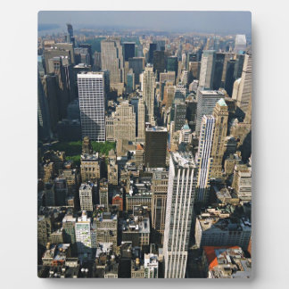 New York Skyline view from Empire State Building Photo Plaques