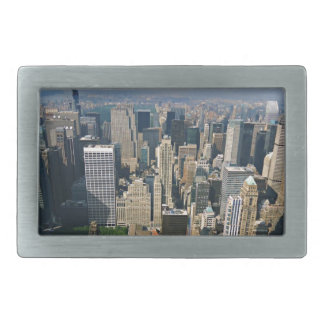 New York Skyline view from Empire State Building Rectangular Belt Buckle