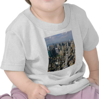 New York Skyline view from Empire State Building Tee Shirts