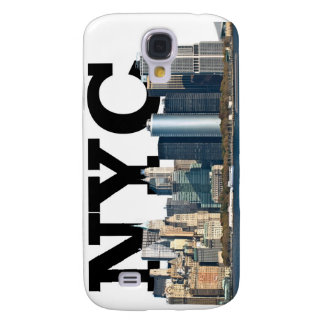 """New York skyline with """"NYC"""" in the sky above. Galaxy S4 Cover"""