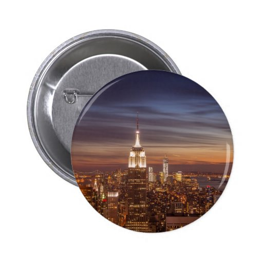 New York Skyline with the Empire State Building an Pins