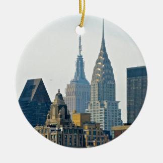 New York Skyscrapers Ceramic Ornament