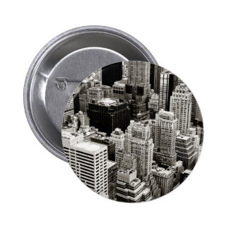 New York Skyscrapers From Above Buttons