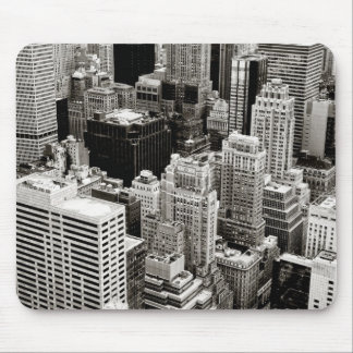 New York Skyscrapers From Above Mouse Pad