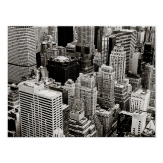 New York Skyscrapers From Above Posters