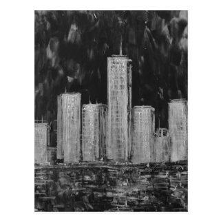 New York Skyscrapers in Oil Postcard