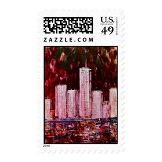 New York Skyscrapers Postage Sellos