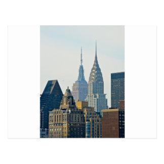 New York Skyscrapers! Postcard