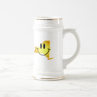 New York Smiley Face 18 Oz Beer Stein