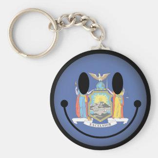 New York Smiley Key Chain