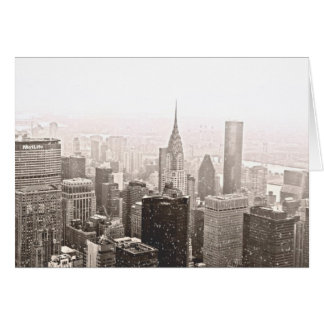 New York Snow Card