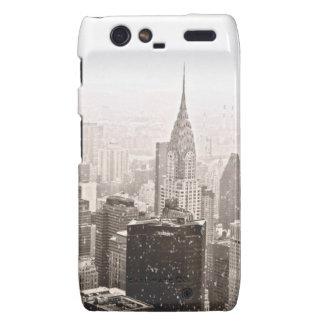 New York Snow Motorola Droid RAZR Cases