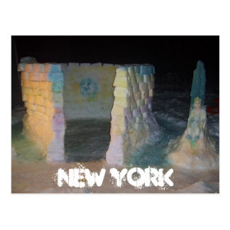 NEW YORK Snow fort Postcard By Mandi Bleyl