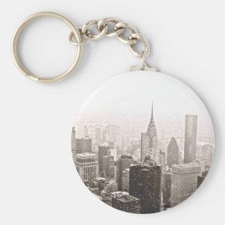 New York Snow Keychain