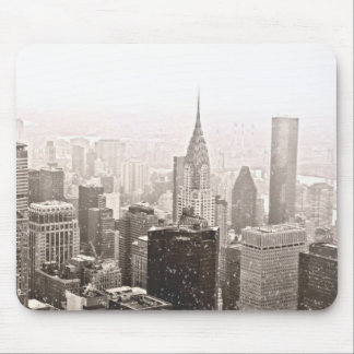 New York Snow Mouse Pad
