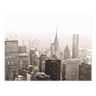 New York Snow Postcard