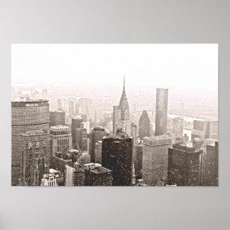 New York Snow Poster