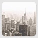 New York Snow Square Sticker