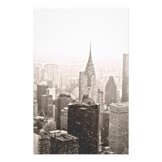 New York Snow Personalized Stationery
