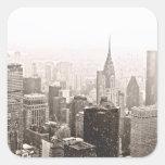 New York Snow Sticker