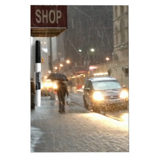 New York Snow Storm Dry Erase Whiteboards