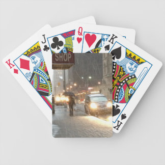 New York Snow Storm Bicycle Playing Cards