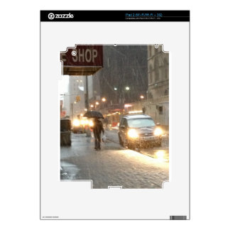 New York Snow Storm Skin For The iPad 2