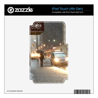 New York Snow Storm iPod Touch 4G Decals