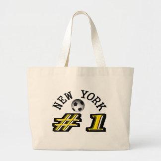 New York Soccer Number 1 Large Tote Bag