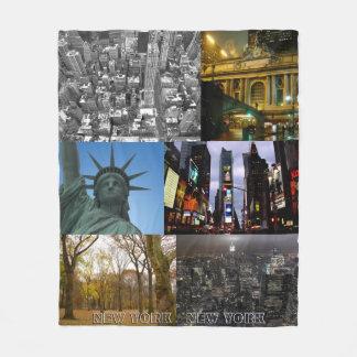 New York Souvenir Blanket NYC Sightseeing Blanket