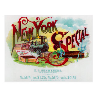 New York Special vintage cigar label Postcard