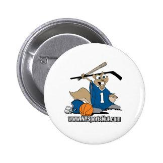 New York Sports Nut 2 Inch Round Button