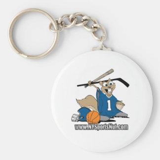 New York Sports Nut Basic Round Button Keychain