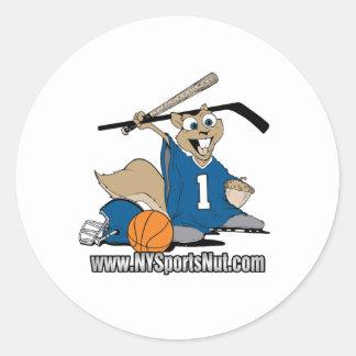 New York Sports Nut Classic Round Sticker