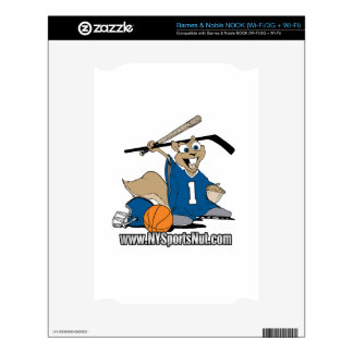 New York Sports Nut Decal For NOOK
