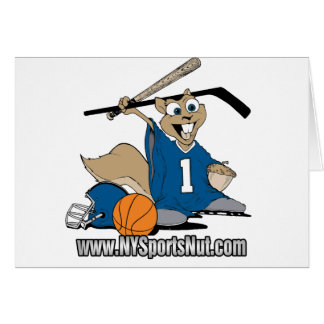 New York Sports Nut Greeting Card