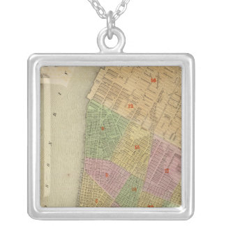 New York Square Pendant Necklace