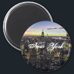 "New York Standard, 2&#188; Inch Round Magnet<br><div class=""desc"">New York Standard,  2&#188; Inch Round Magnet</div>"