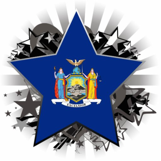 New York Star Standing Photo Sculpture