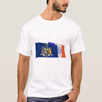 New York State and New York City Flags T-Shirt