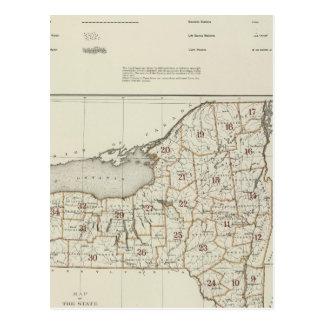 New York state atlas Postcard