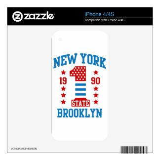 New york state Brooklyn Skin For iPhone 4