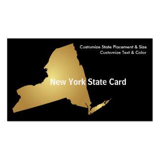 New York State Business Card Metallic Gold