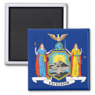 New York State Flag 2 Inch Square Magnet