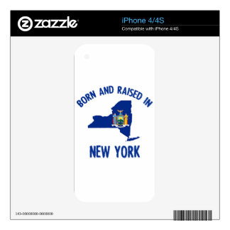 New York state flag and map designs iPhone 4 Decal
