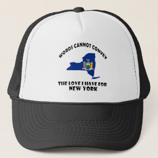 New York state flag and map designs Trucker Hat