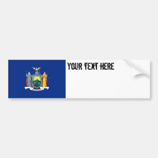 New York State Flag Bumper Sticker