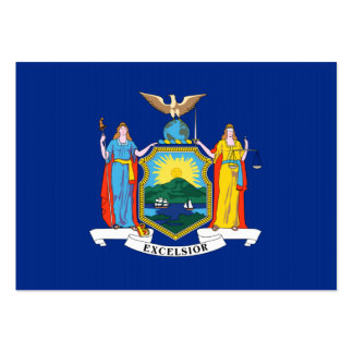 New York State Flag Large Business Cards (Pack Of 100)