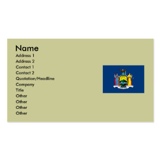 New York State Flag Double-Sided Standard Business Cards (Pack Of 100)